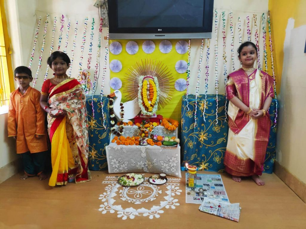 Saraswati Puja 2020 Celebration at B. D. Memorial Garia – Pre-Primary