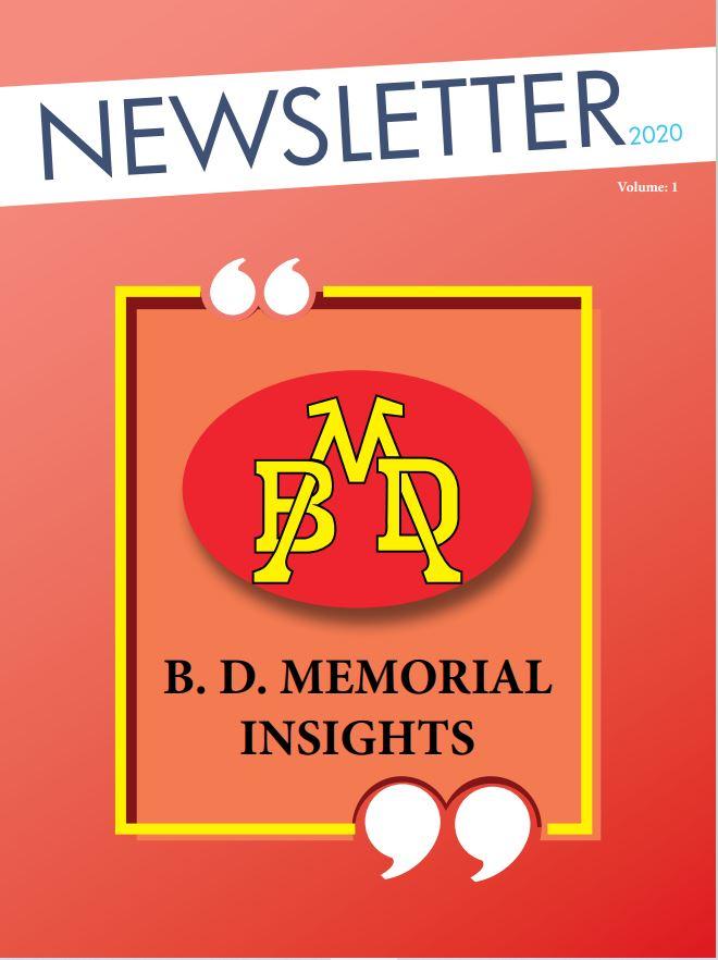 BDMEMORIAL NEWSLETTER VOLUME 1