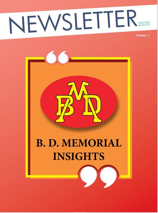 BDMEMORIAL NEWSLETTER VOLUME 2